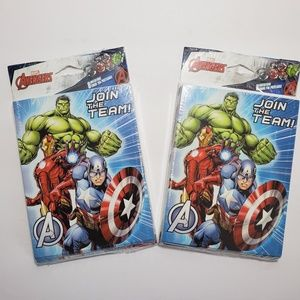 Avengers Birthday Party Invitations/Thank You Card